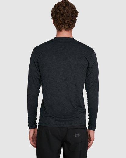 5 Shoreline Loose Fit Long Sleeve Rash Vest Black 9703512 Billabong