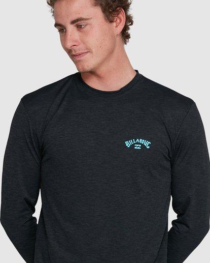 6 Shoreline Loose Fit Long Sleeve Rash Vest Black 9703512 Billabong
