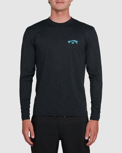 0 Shoreline Loose Fit Long Sleeve Rash Vest Black 9703512 Billabong