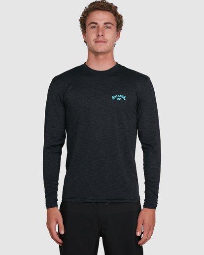 3 Shoreline Loose Fit Long Sleeve Rash Vest Black 9703512 Billabong