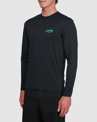 1 Shoreline Loose Fit Long Sleeve Rash Vest Black 9703512 Billabong