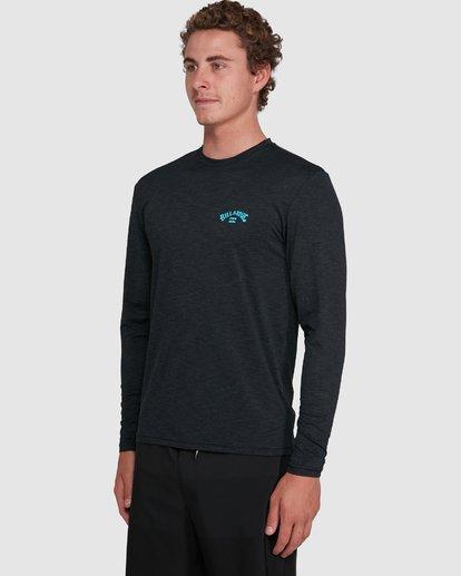 4 Shoreline Loose Fit Long Sleeve Rash Vest Black 9703512 Billabong