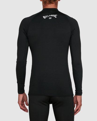 2 All Day Thermal Long Sleeve Rash Vest Black 9703513 Billabong