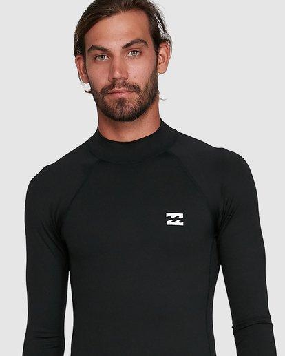 3 All Day Thermal Long Sleeve Rash Vest Black 9703513 Billabong