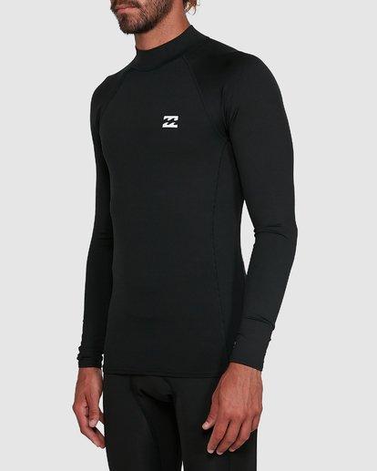 1 All Day Thermal Long Sleeve Rash Vest Black 9703513 Billabong