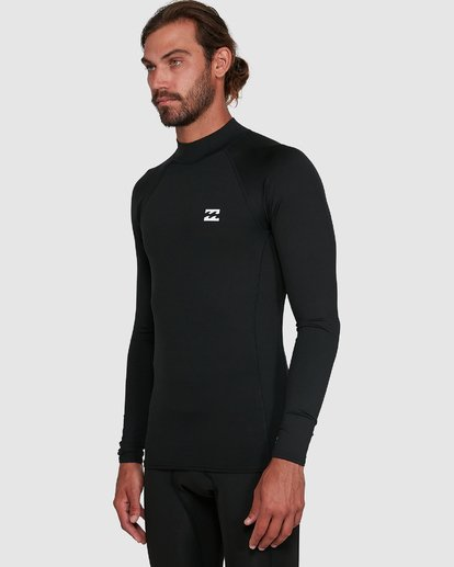 4 All Day Thermal Long Sleeve Rash Vest Black 9703513 Billabong