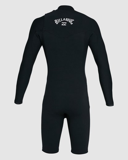 3 202 Revolution Comp Chest Zip Long Sleeve Springsuit Black 9703590 Billabong