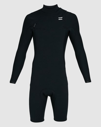 1 202 Revolution Comp Chest Zip Long Sleeve Springsuit Black 9703590 Billabong