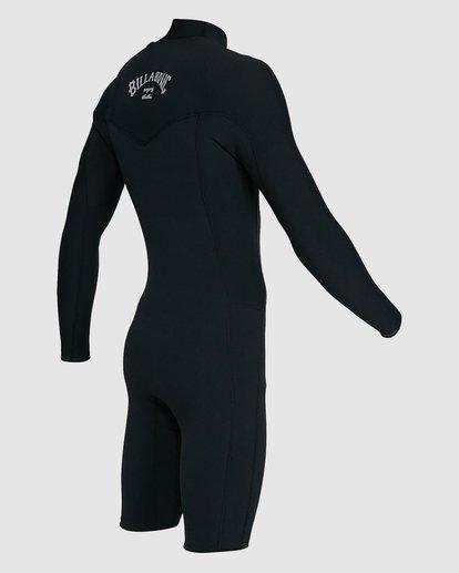 4 202 Revolution Comp Chest Zip Long Sleeve Springsuit Black 9703590 Billabong