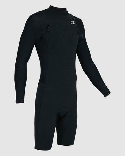2 202 Revolution Comp Chest Zip Long Sleeve Springsuit Black 9703590 Billabong