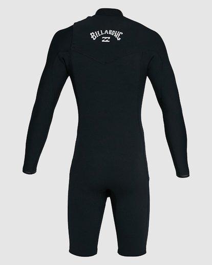 10 202 Revolution Comp Chest Zip Long Sleeve Springsuit Black 9703590 Billabong