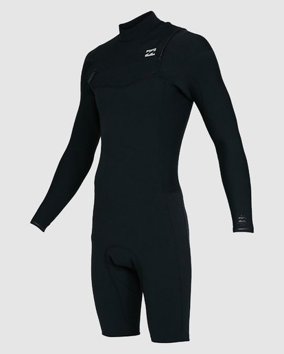 6 202 Revolution Comp Chest Zip Long Sleeve Springsuit Black 9703590 Billabong