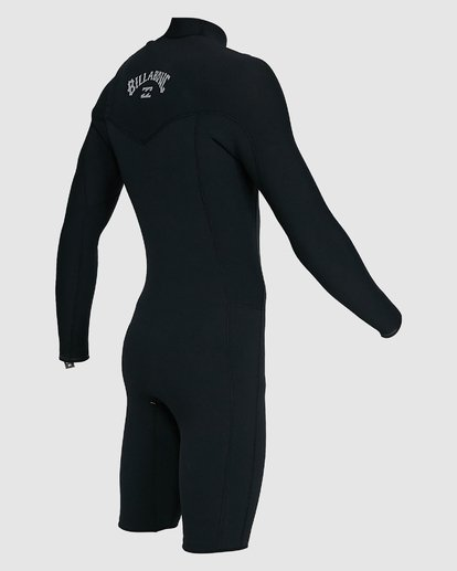 9 202 Revolution Comp Chest Zip Long Sleeve Springsuit Black 9703590 Billabong