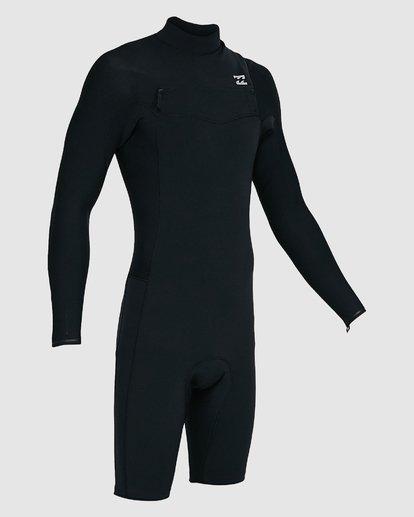 8 202 Revolution Comp Chest Zip Long Sleeve Springsuit Black 9703590 Billabong