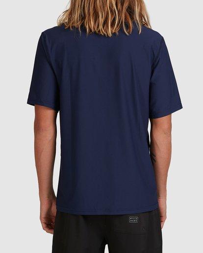 2 Spinner Loose Fit Short Sleeve Rash Vest Blue 9704502 Billabong