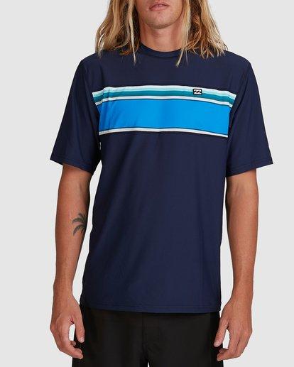 0 Spinner Loose Fit Short Sleeve Rash Vest Blue 9704502 Billabong