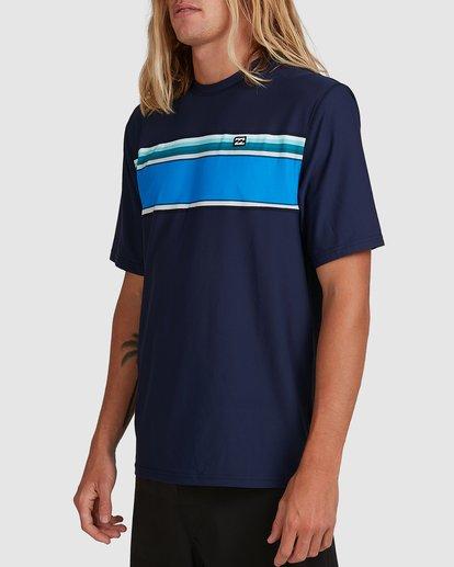 1 Spinner Loose Fit Short Sleeve Rash Vest Blue 9704502 Billabong