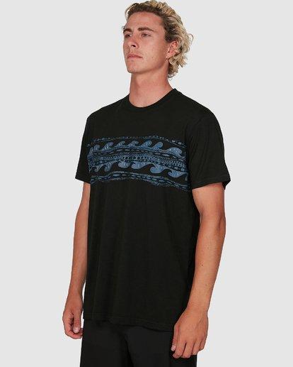 4 Adiv Half Rack Upf 50 Surf Tee Black 9704503 Billabong