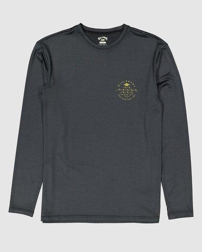 8 Wavey Davey Loose Fit Long Sleeve Rash Vest Black 9704507 Billabong