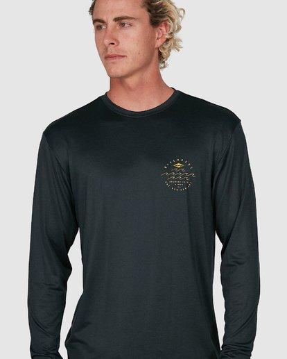 6 Wavey Davey Loose Fit Long Sleeve Rash Vest Black 9704507 Billabong