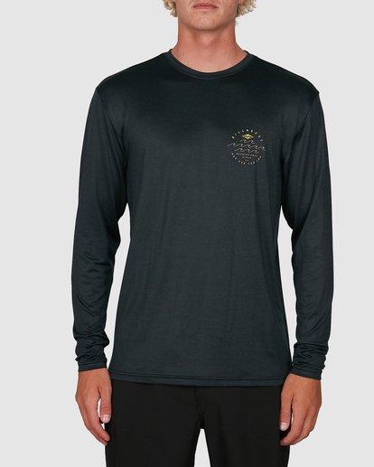 0 Wavey Davey Loose Fit Long Sleeve Rash Vest Black 9704507 Billabong