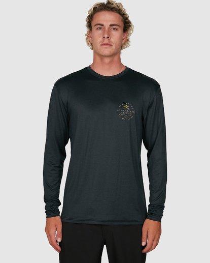 3 Wavey Davey Loose Fit Long Sleeve Rash Vest Black 9704507 Billabong