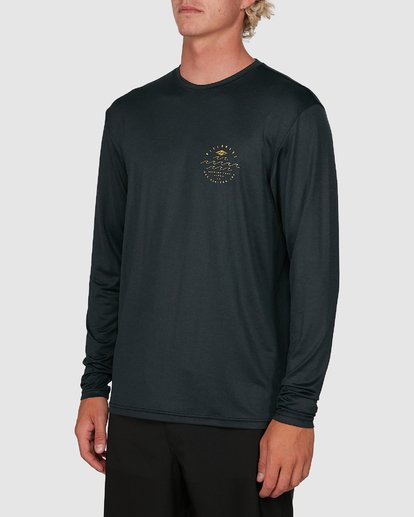 1 Wavey Davey Loose Fit Long Sleeve Rash Vest Black 9704507 Billabong