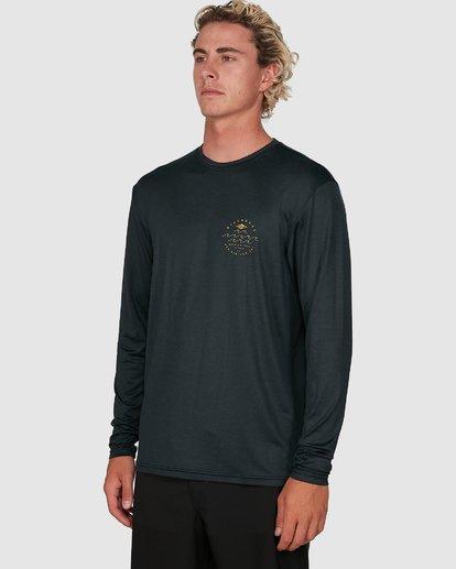 4 Wavey Davey Loose Fit Long Sleeve Rash Vest Black 9704507 Billabong