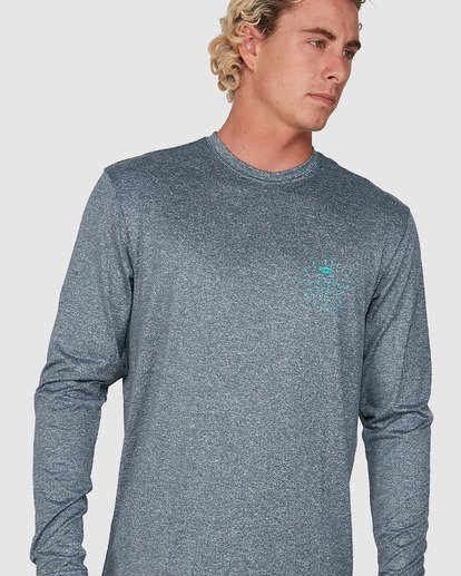 6 Wavey Davey Loose Fit Long Sleeve Rash Vest Blue 9704507 Billabong