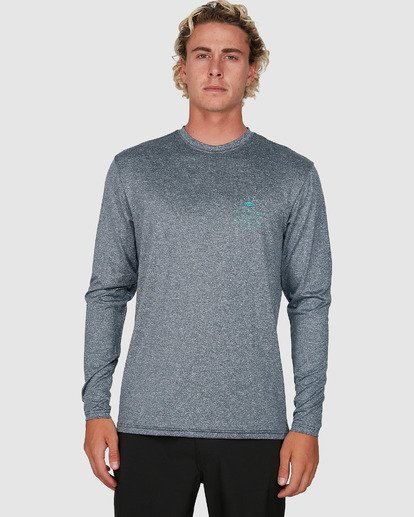 3 Wavey Davey Loose Fit Long Sleeve Rash Vest Blue 9704507 Billabong