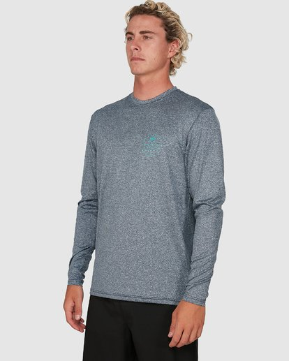 4 Wavey Davey Loose Fit Long Sleeve Rash Vest Blue 9704507 Billabong