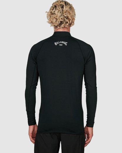 5 Contrast Performance Fit Long Sleeve Rash Vest Grey 9704512 Billabong