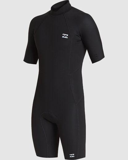 1 202 Absolute Fl Back Zip Short Sleeve Springsuit Black 9707400 Billabong