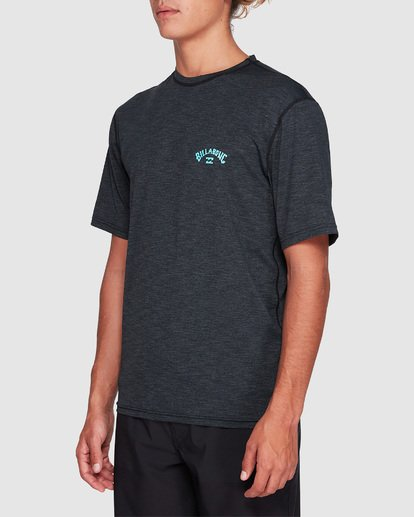 1 Shoreline Loose Fit Short Sleeve Rashie Black 9707505 Billabong