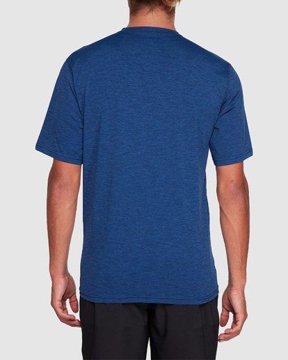 2 Shoreline Loose Fit Short Sleeve Rash Vest Blue 9707505 Billabong