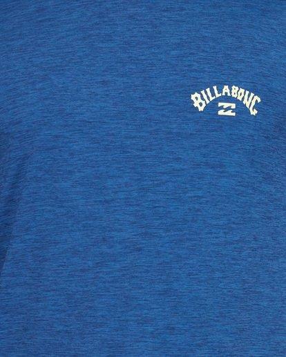 3 Shoreline Loose Fit Short Sleeve Rash Vest Blue 9707505 Billabong