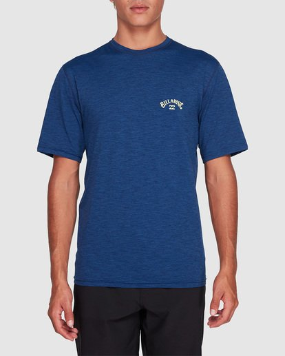 0 Shoreline Loose Fit Short Sleeve Rash Vest Blue 9707505 Billabong