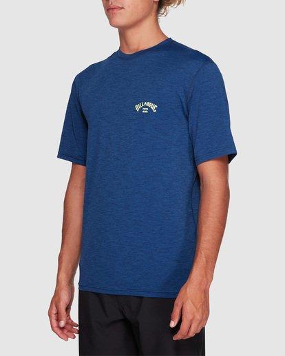 1 Shoreline Loose Fit Short Sleeve Rash Vest Blue 9707505 Billabong