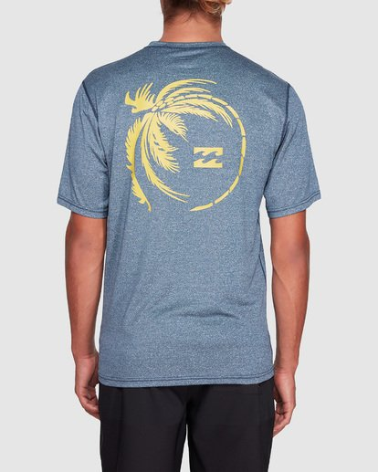 2 Storm Fl Short Sleeve Rashie Blue 9707506 Billabong