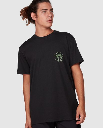 0 Directional Upf 50 Surf Tee Black 9707510 Billabong