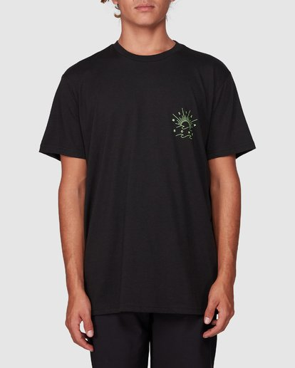 1 Directional Upf 50 Surf Tee Black 9707510 Billabong