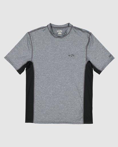5 Arch Mesh Loose Fit Short Sleeve Rash Vest Grey 9707518 Billabong