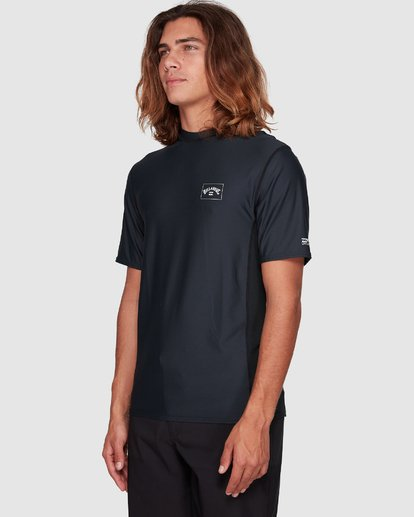 5 Arch Mesh Loose Fit Short Sleeve Rashie Black 9707518 Billabong