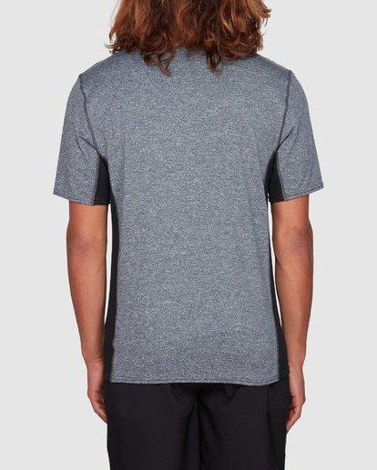 2 Arch Mesh Loose Fit Short Sleeve Rash Vest Grey 9707518 Billabong