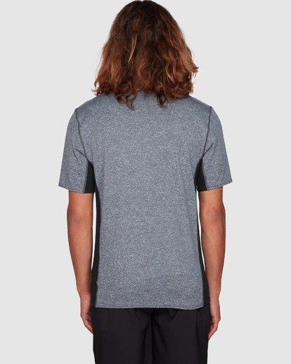 6 Arch Mesh Loose Fit Short Sleeve Rashie Grey 9707518 Billabong
