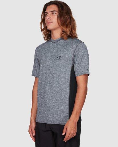5 Arch Mesh Loose Fit Short Sleeve Rashie Grey 9707518 Billabong