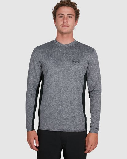 3 Banded Long Sleeve Surf Shirt Grey 9707520 Billabong
