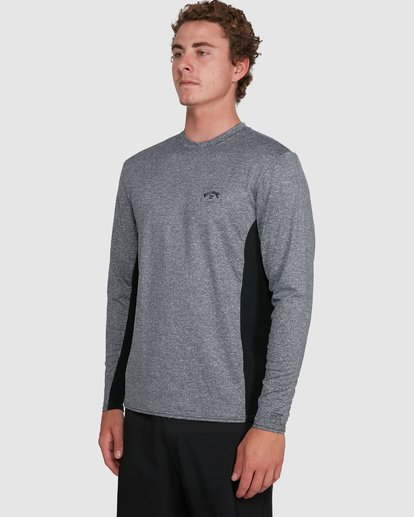 4 Banded Long Sleeve Surf Shirt Grey 9707520 Billabong
