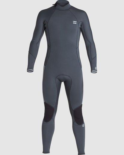 1 302 Absolute Flatlock Back Zip Fullsuit Grey 9707700 Billabong