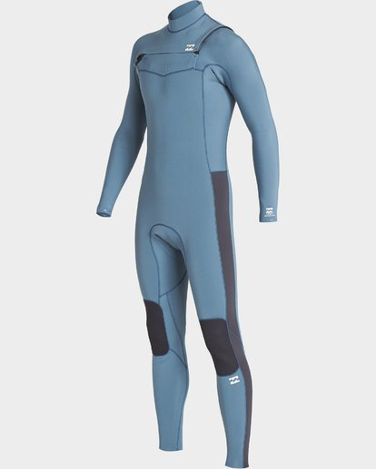 0 302 Furnace Revolution Chest Zip Ls Fullsuit Blue 9707820 Billabong